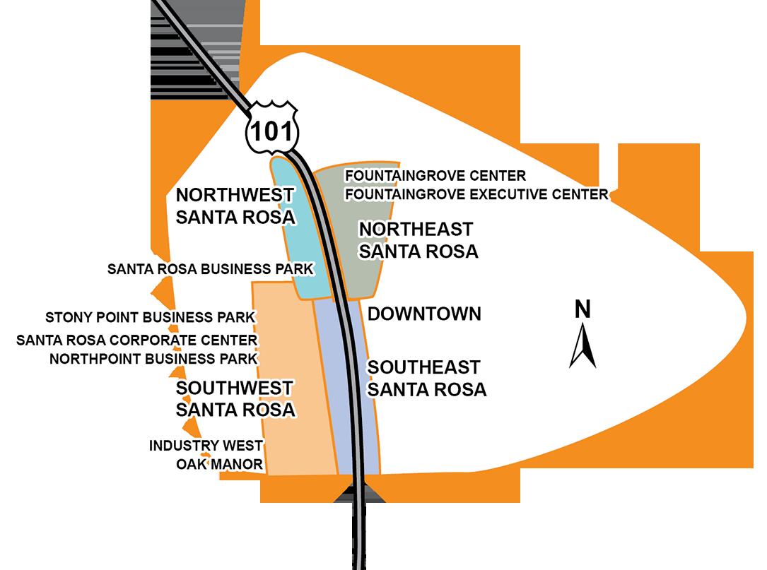 Kaiser Santa Rosa Campus Map.Sonoma County Submarkets Keegan Coppin Company Inc